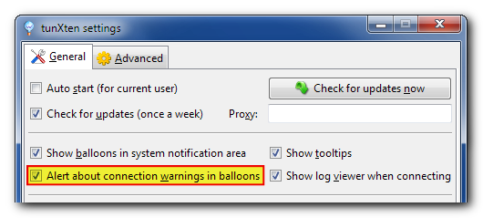 The option to disable warnings